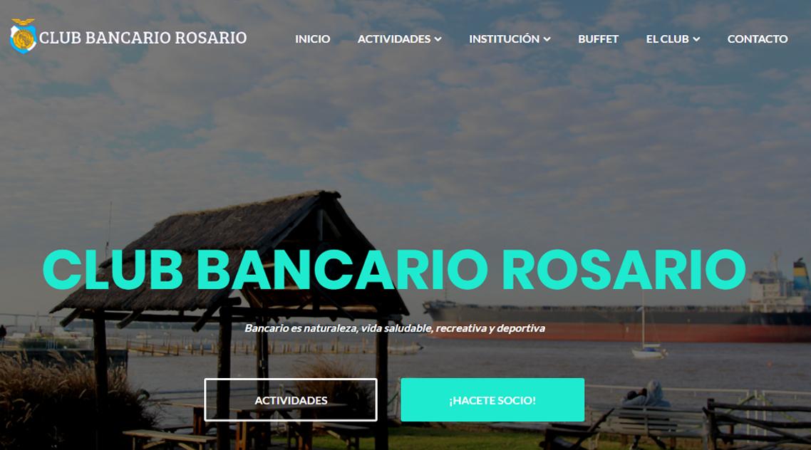 Diseño web Club Bancario Rosario Moosa